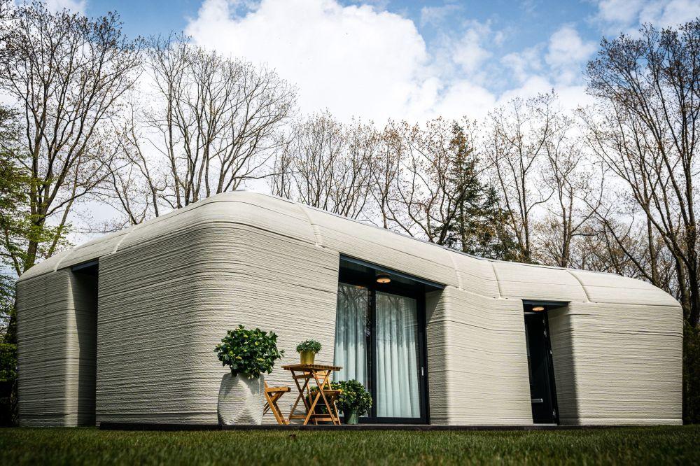 اولین خانه از بتن که با پرینتر سه بعدی چاپ شده است، هلند