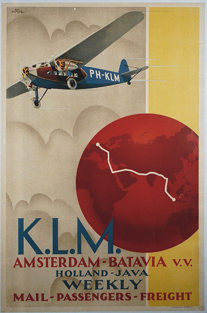 شرکت هواپیمایی « ک.ال.ام» قدیمی ترین شرکت هواپیمایی جهان آگهی تبلیغاتی