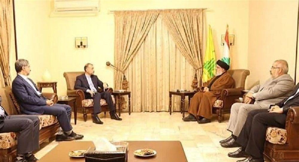 دیدار وزیر خارجه ایران با رهبر حزب الله لبنان