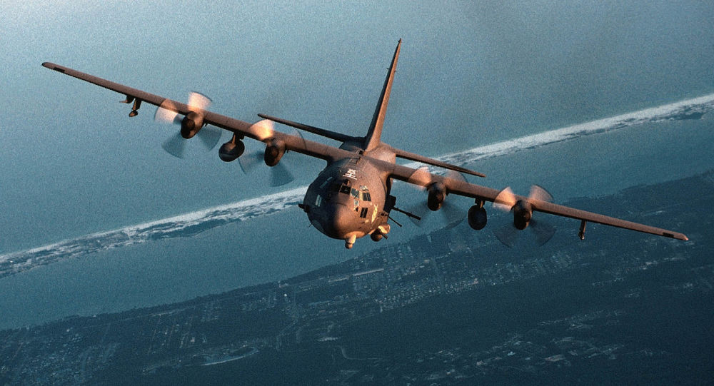 تجهیز یکی از هواپیماهای نظامی آمریکایی به توپ لیزری