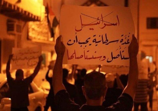 تظاهرات شبانه بحرینیها علیه سازش با اسرائیل