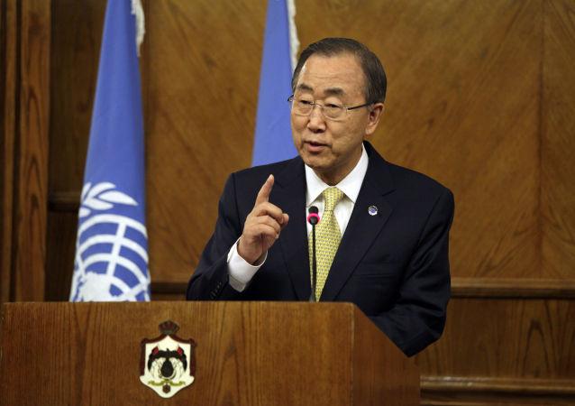برای کسب مجدد مقام دبیر کل سازمان ملل، بان کی مون گزارش بی پایه و اساس پخش کرده است