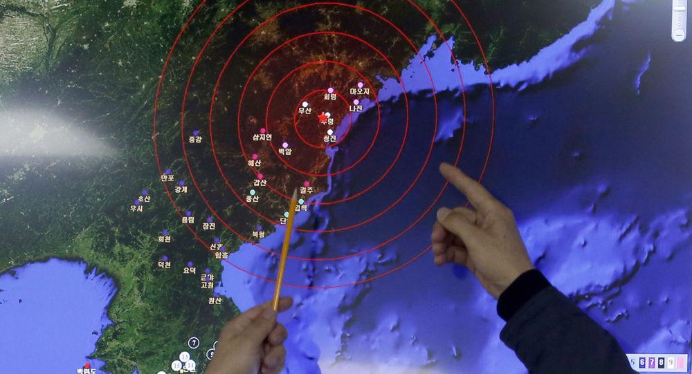 به ثبت رسیدن زلزله مصنوعی در کره شمالی