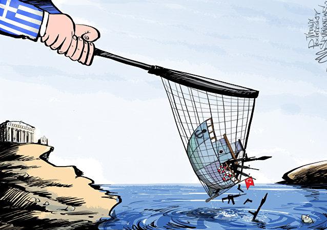 گشت ساحلی یونان کشتی ترکیه حامل سلاح برای لبنان را بازداشت کرد