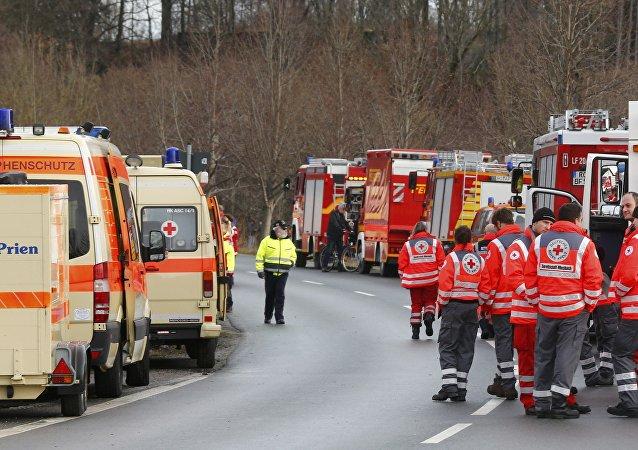 یک فروند هواپیمای سبک در آلمان سقوط کرد