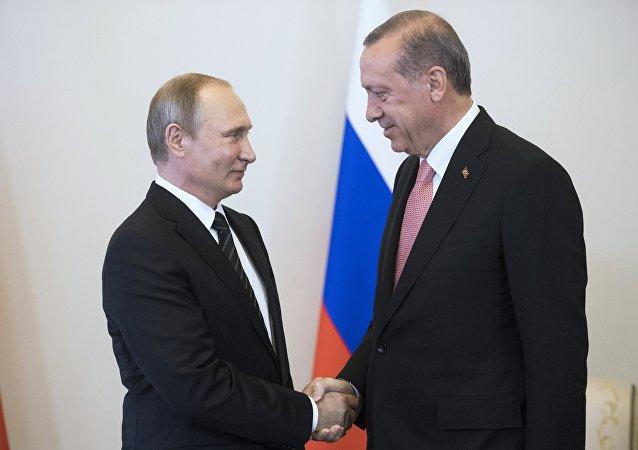 اردوغان امیدوار گسترش همکاری با روسیه است