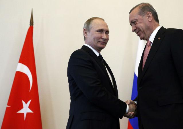 اردوغان به خاطر دیدار با پوتین و حمایت وی هنگام تلاش کودتا سپاسگزاری کرد