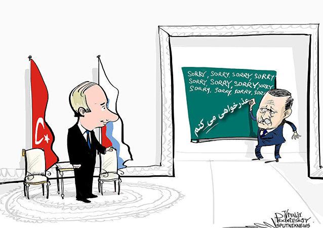 اولین دیدار پوتین و اردوغان پس از بحران