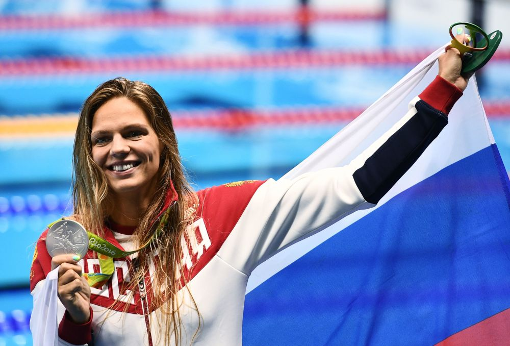 یولیا یفیموا شناگر روسیه در مسابقات المپیک ریو د ژانیرو