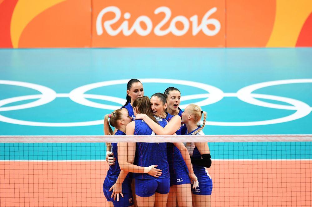 والیبالیست های روسیه در مسابقات المپیک ریو د ژانیرو