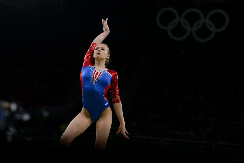 داریا سپیریدونوا ژیمناست روسیه در مسابقات المپیک ریو د ژانیرو