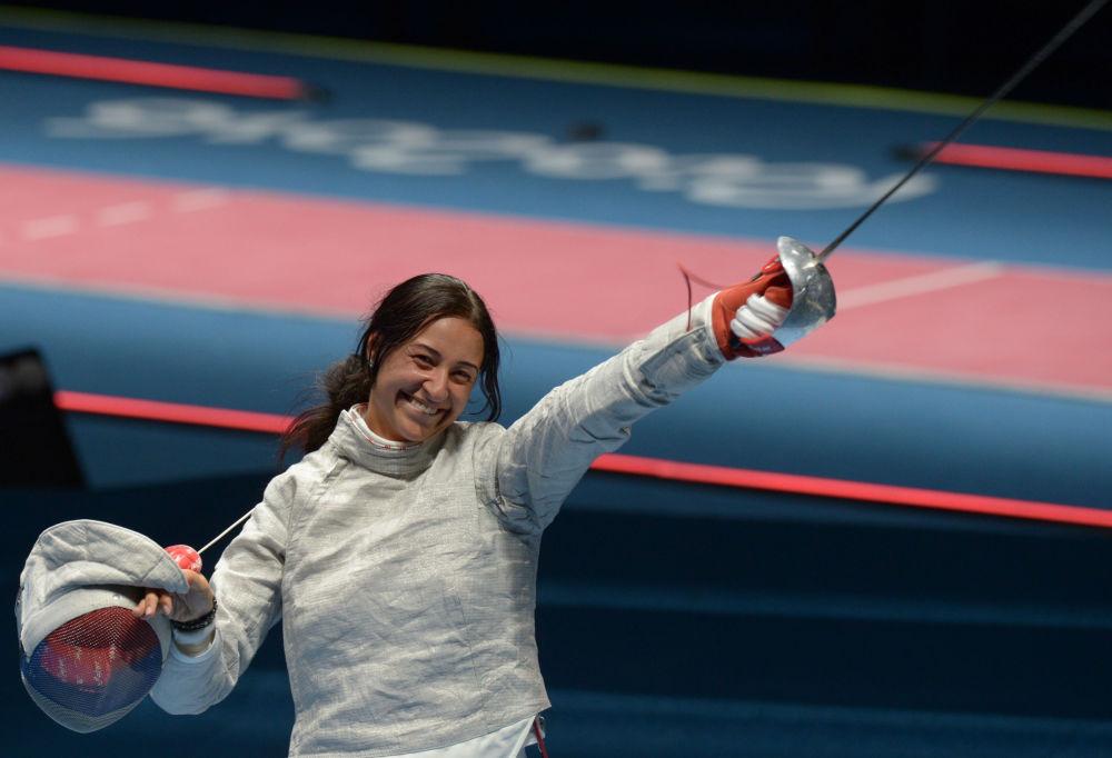 یانا یگوریان شمشیر باز  روسیه  در مسابقات المپیک ریو د ژانیرو