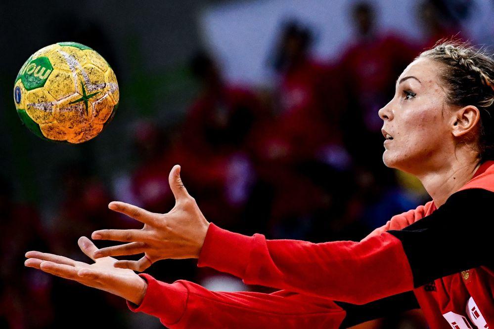 ویکتوریا کالینینا ورزشکار روسیه  در هندبال در مسابقات المپیک ریو د ژانیرو