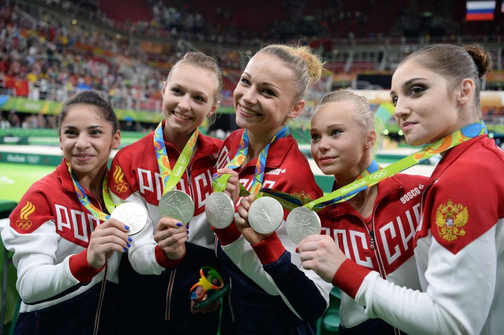 ورزشکاران ژیمناست  روسیه در مسابقات المپیک ریو د ژانیرو