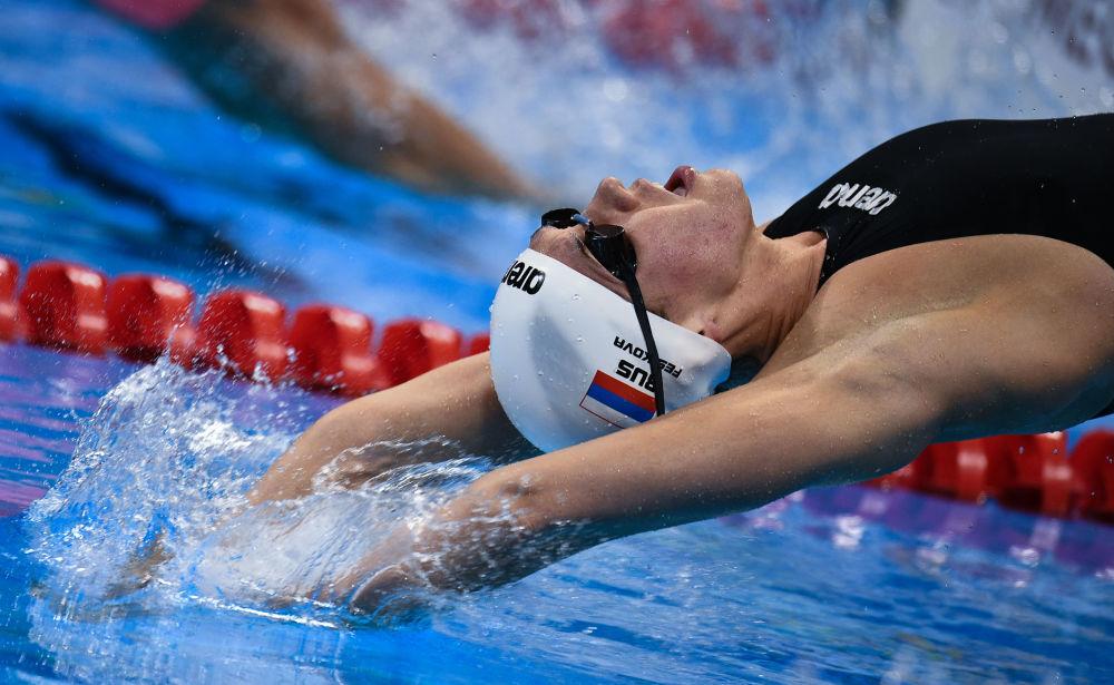 آناستاسیا فسیکووا شناگر روسیه در مسابقات المپیک ریو د ژانیرو