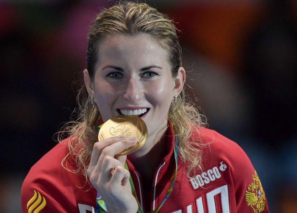 اینا دریگلازووا شمشیر باز روسیه برنده مدال طلا در مسابقات المپیک ریو د ژانیرو