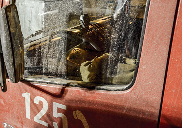 آتش نشان در محل حادثه