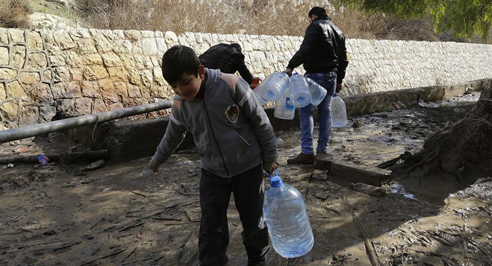 قطع مجدد آب آشامیدنی در حلب