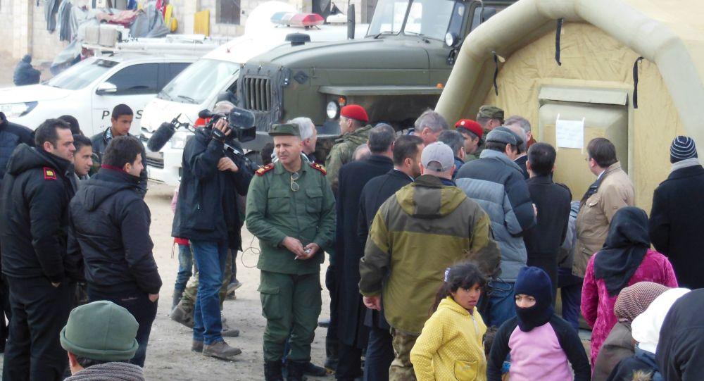 کمک های بشر دوستانه روسیه به سوریه