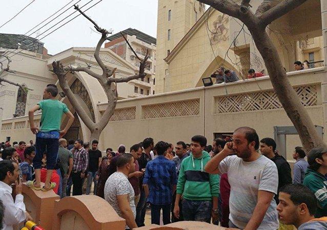 انفجار در یک کلیسا در شمال قاهره