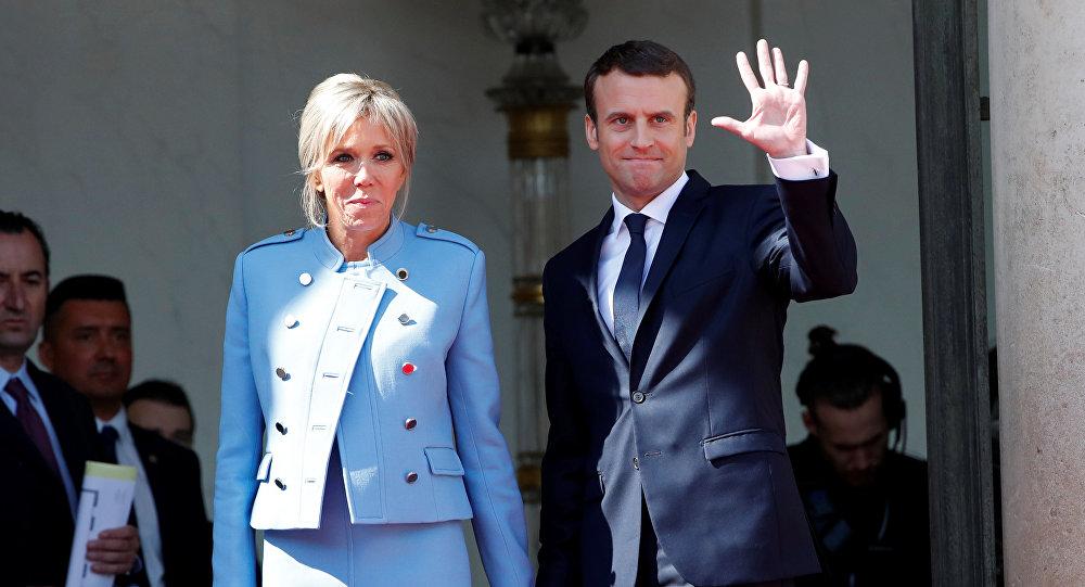 شباهت جالب لباس همسر ترامپ و همسر مکرون در مراسم تحلیف (عکس)