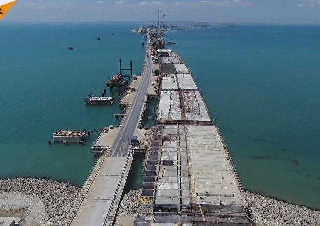 Crimean Bridge Construction Works