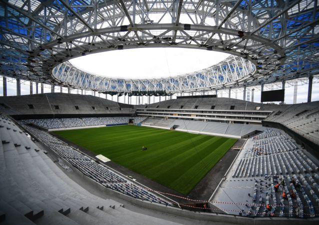 نصب ساعت جام جهانی ۲۰۱۸ در نیژنی نووگورود