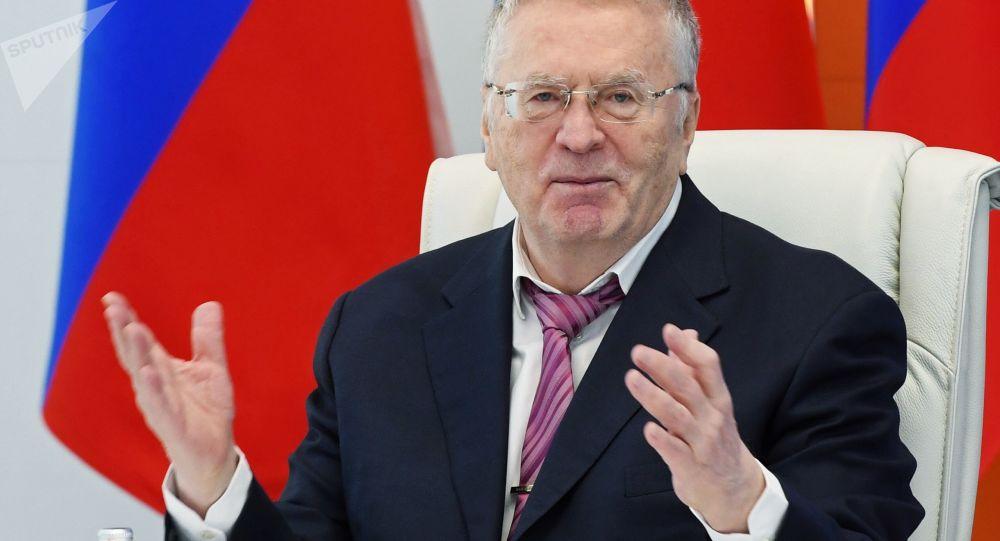 ولادیمیر ژیرینوفسکی رهبر حزب لیبرال دمکرات روسیه