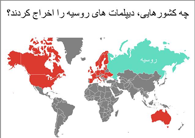 چه کشورهایی، دیپلمات های روسیه را اخراج کردند؟