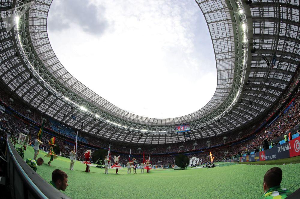 مراسم افتتاحیه جام جهانی فوتبال-2018 در استادیوم «لوژنیکی» مسکو