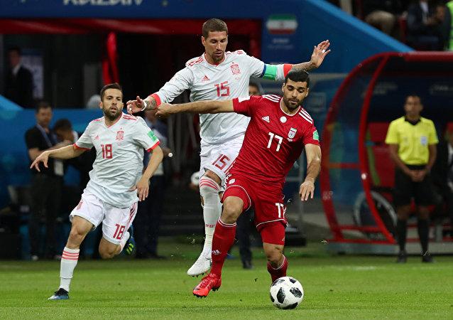 مباراة إسبانيا وإيران