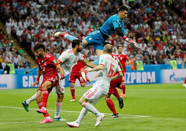 برتری اسپانیا مقابل تیم ایران با نتیجه یک بر صفر