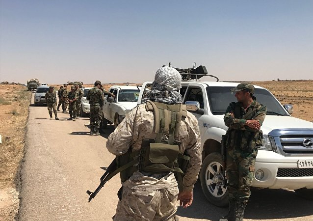 حمله داعشی ها به ارتش دولتی سوریه در حومه دمشق