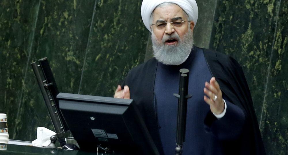 روحانی: آمریکا نمی تواند روابطه تجاری ایران را با جهان قطع کند