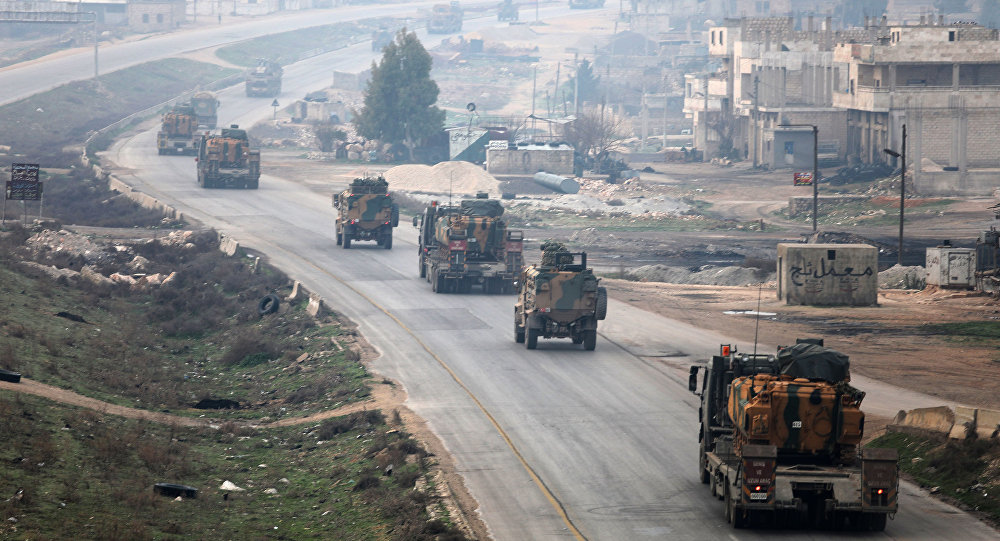 ورود تجهیزات نظامی ترکیه به خاک سوریه