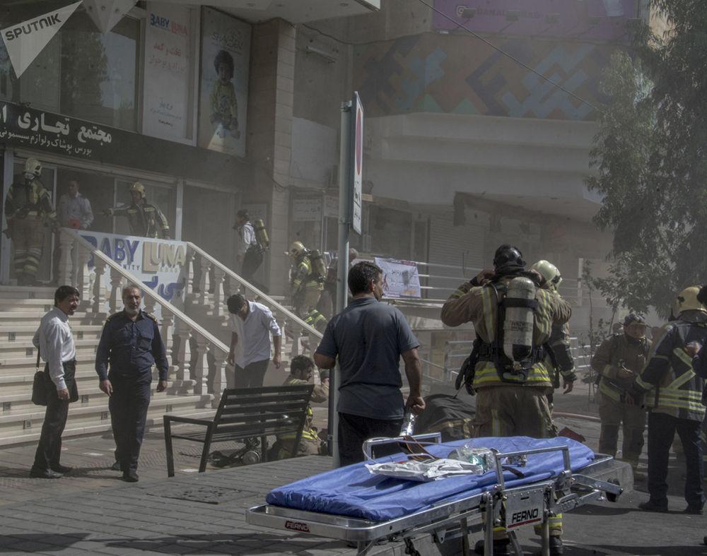 آتش سوزی در برج بهار تهران