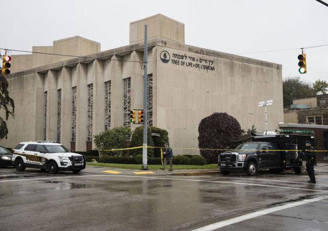 حمله فرد ناشناس در نزدیک کنیسه یهودیان در نیویورک