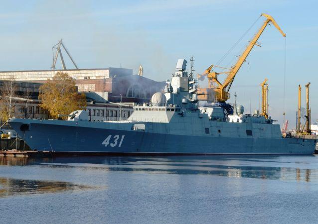 ناوچه روسیه برای آزمایش سلاح به دریای بارنتز رفت