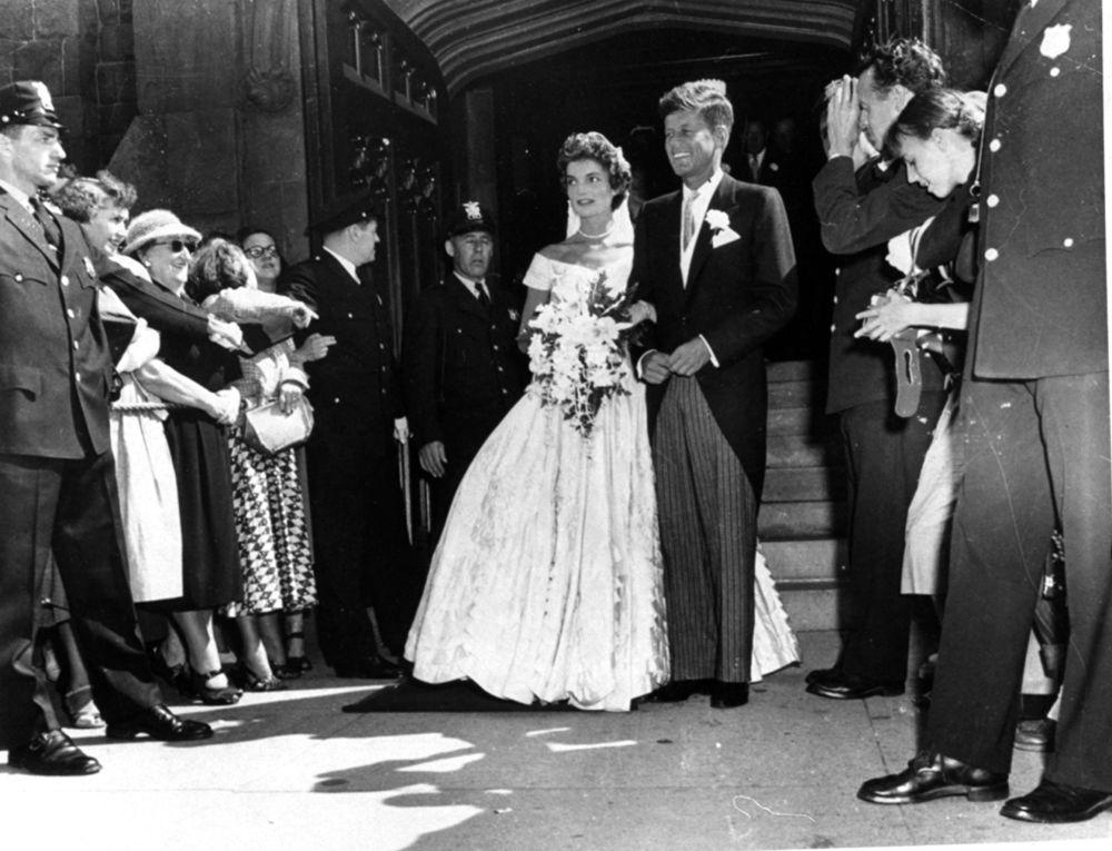 مراسم ازدواج جان کندی و ژاکلین بیوبه سال ۱۹۵۳