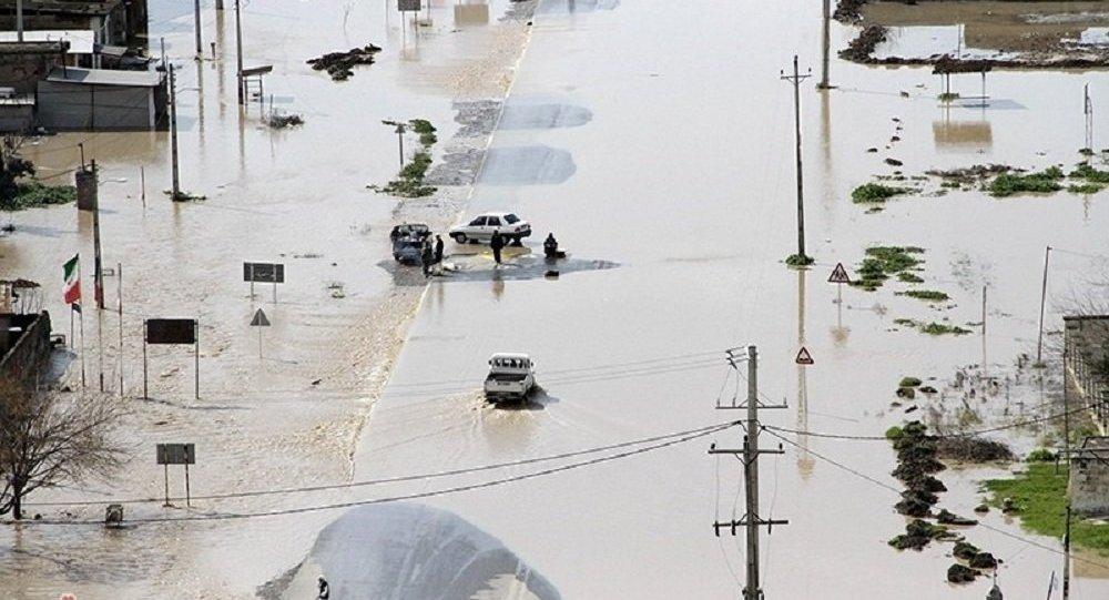 عملیات موفق سپاه برای رهاسازی آب در شمال آق قلا