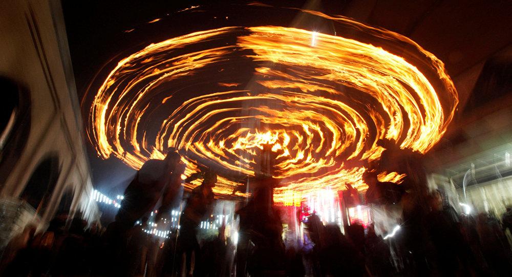 آتش سوزی در نجف+ویدیو