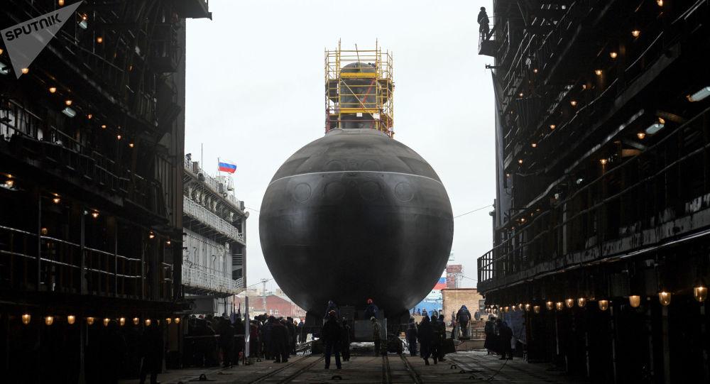 آزمایش جدیدترین زیردریایی روسیه