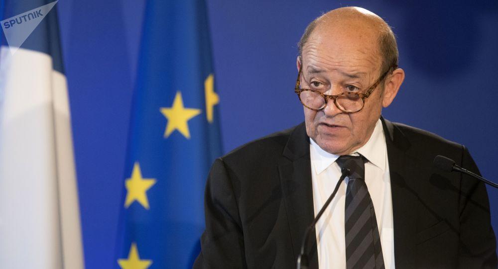 ژان ایو لو دریان وزیر امور خارجه فرانسه
