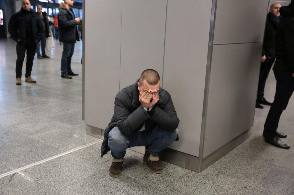 خانواده جانباختگان سقوط هواپیمای اوکراینی در فرودگاه بوریسپیل