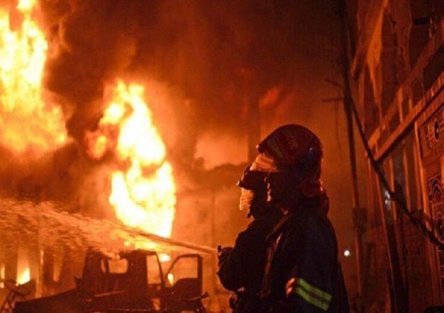 آتش سوزی در نیروگاه زرگان خوزستان