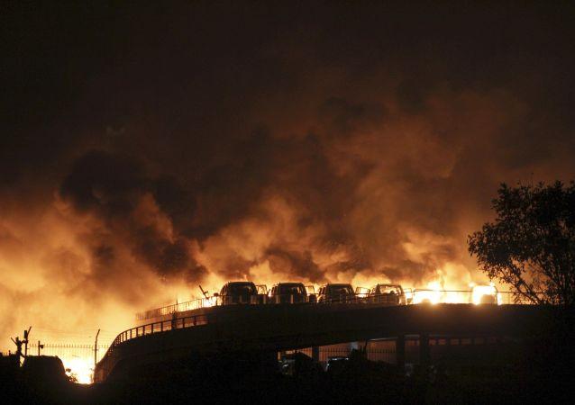 وقوع انفجاری مهیب در یک کارخانه شیمیایی چین