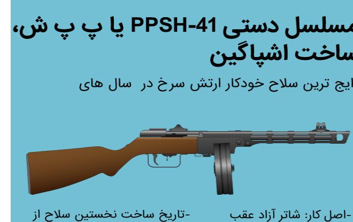 مسلسل دستی PPSh-41 یا پ پ ش، ساخت اشپاگین