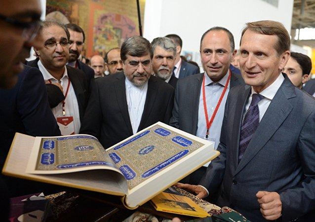 ملاقات رئیس دومای روسیه با وزیر فرهنگ و ارشاد اسلامی