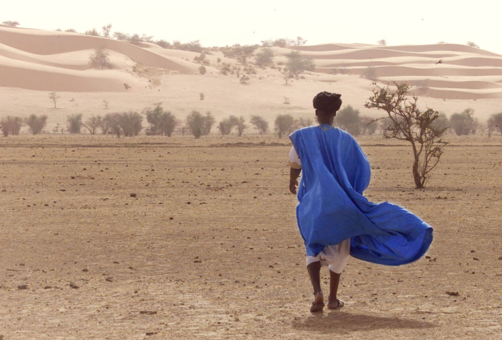 کویری با شن های روان در موریتانی