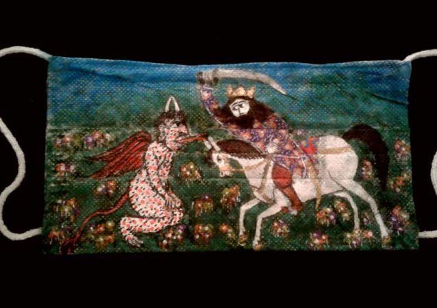 نبرد رستم با کرونای دیو از نگاه مرد هنرمند ایرانی